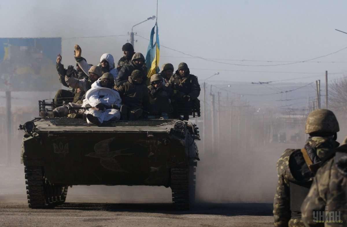 Выход бойцов из Дебальцево