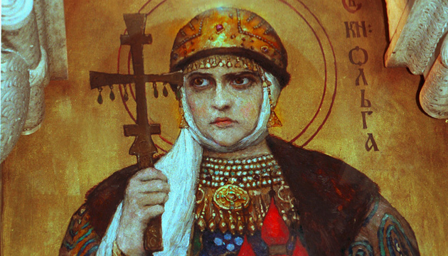 Сегодня День равноапостольной Ольги; над Киеврадой впервые подняли сине-желтый флаг