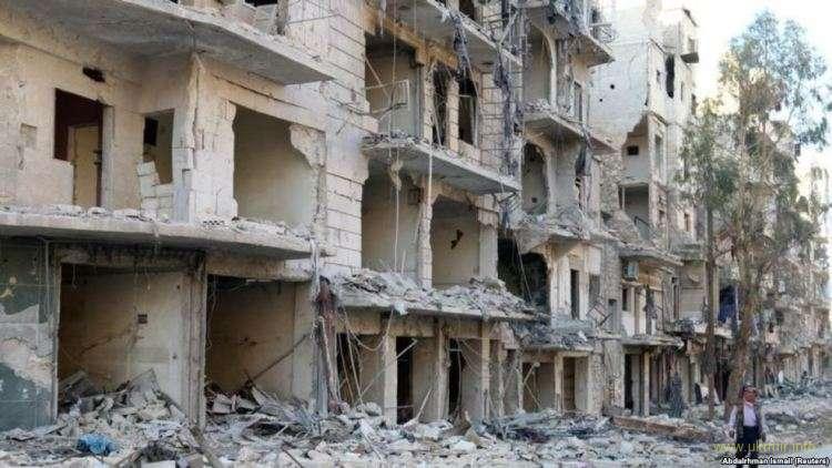 Алеппо. Так выглядят многие кварталы города после продолжительных и интенсивных бомбардировок.