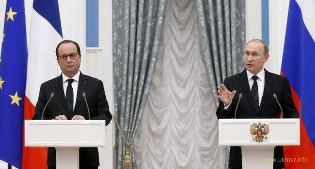 Франсуа Олланд побрезговал и отказался от встречи с Путиным