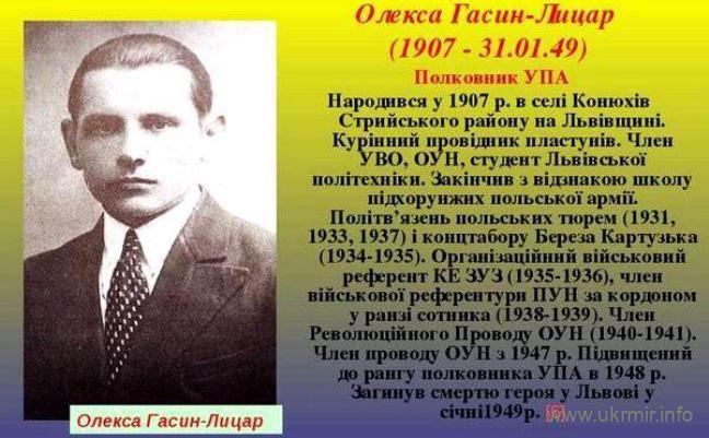 «Лицар» УПА – Олекса Гасин