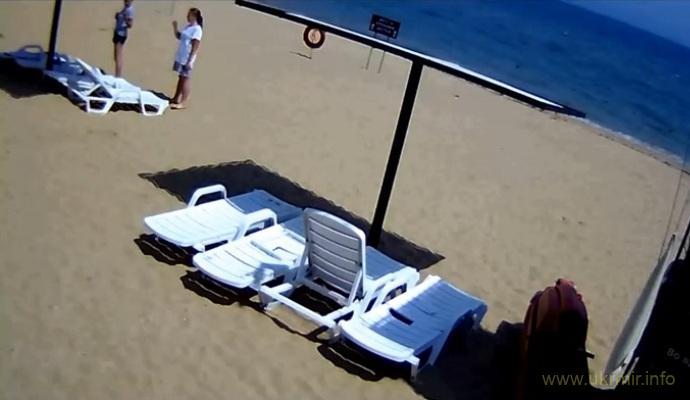 Веб-камера online в Керчи. Героевское. Пляж