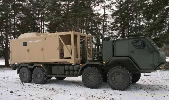 """Автономный контейнерный 120-мм миномет от финской """"Patria""""."""
