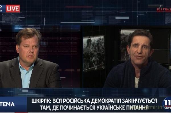 """""""Не трогай нашего героя Бандеру, ваши красноперые вырезали украинские семьи"""" - Шкиряк """"регионалу"""""""