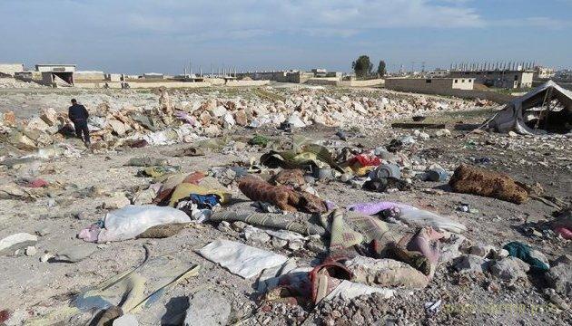 Самолеты русских фашистов разбомбили лагерь беженцев в Идлибе
