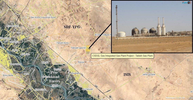 Россияне опять отгребли в районе в Сирии в районе Дейр-эз-Зора