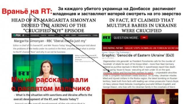 Проросийский канал RT France уличен во лжи и подтасовках фактов