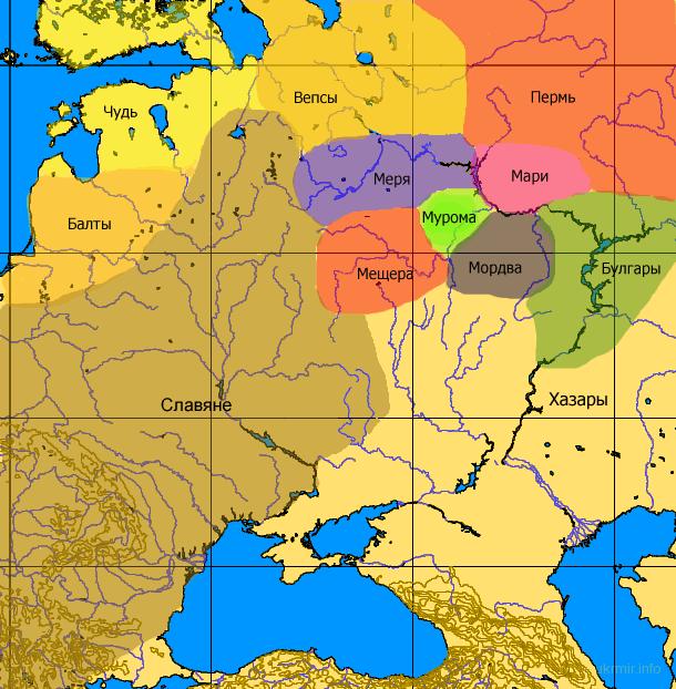 """Ось мапа Русі по """"Слову о полку Ігоревім"""". І де там Московія і московіти (""""руцкие"""")?:) (посилання)"""