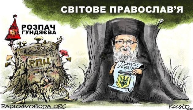 Секта РПЦ атакує коментарі досліджень Вселенського Патріархату про Україну