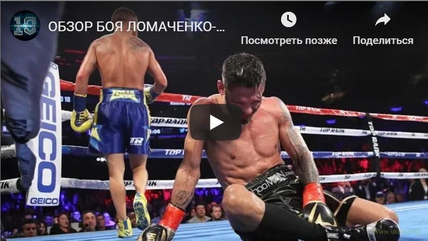Нокаут от Ломаченко вошел в топ-3 лучших в 2018 году