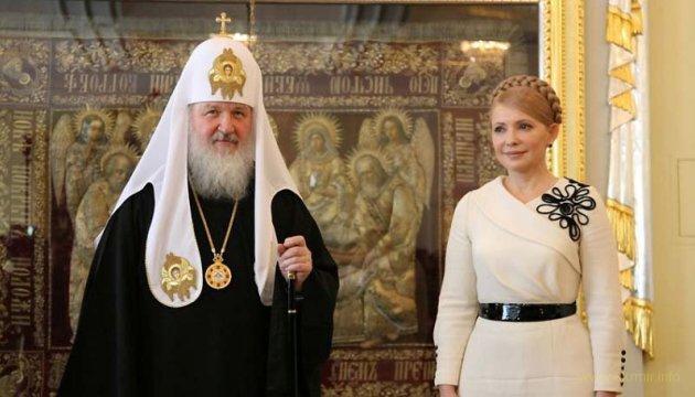 Тимошенко переконувала одного із східних патріархів, що не слід поспішати з автокефалією