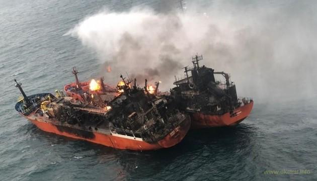 Пожар в Керченском проливе так и не потушили