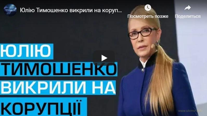В коррупционные схемы в оборонке Тимошенко втянула и своего мужа