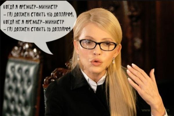 Тимошенко підвищувала ціну на газ кілька разів