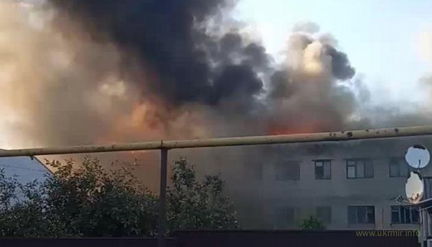 У оккупантов на Донбассе произошел крупный пожар