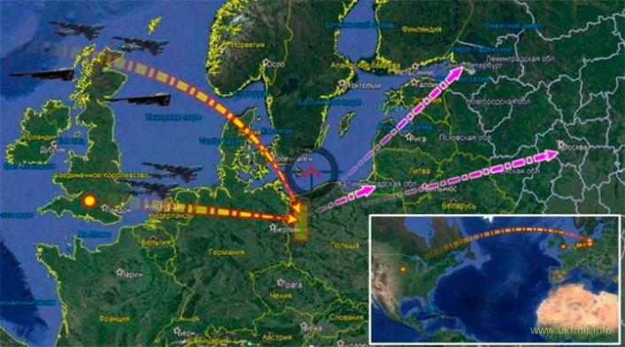 США отработали ответный ядерный ракетный удар возмездия по Москве