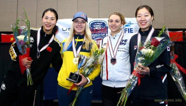 Українська фехтувальниця виграла етап Кубка світу в США
