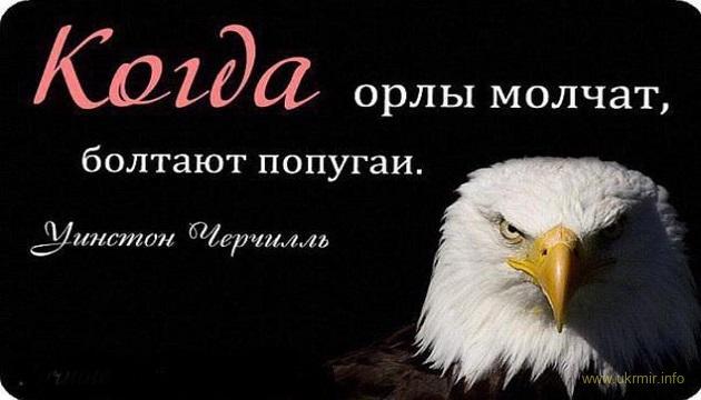 Когда орлы молчат, болтают попугаи - Уинстон Черчилль