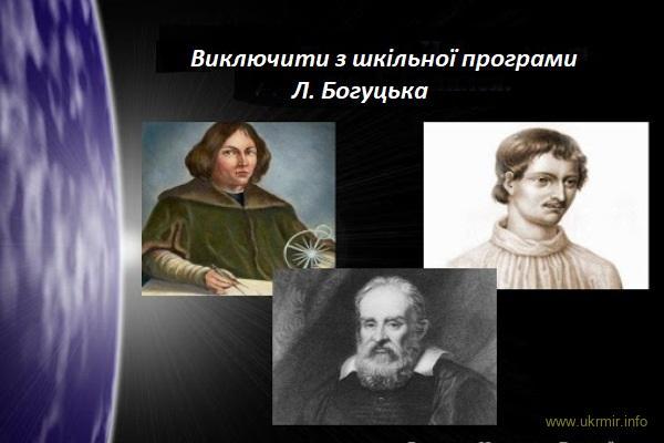 Лізка Богуцька проти Бруно та Галілея