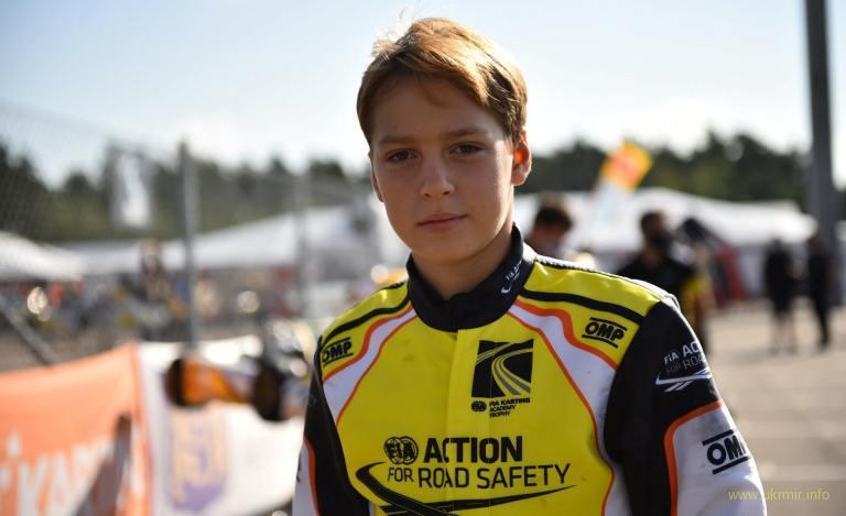 Олександр Бондарев виборов Подіум у Чемпіонаті FIA karting Academy Trophy
